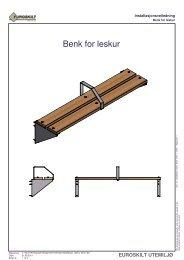 Installasjon_leskur benk - Euroskilt AS