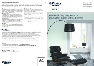 Light & Space specifier brochure - Dulux Trade
