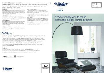 Light & Space specifier brochure - Dulux Trade