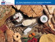 Introduction - US Dairy Export Council