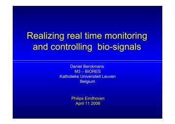 Realizing Real Time monitoring And Controlling Bio-signals