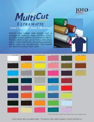 MultiCut Ultra Swatch Card [PDF] - Joto