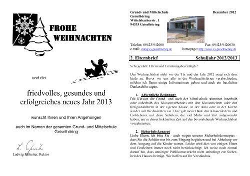 Elternbrief Weihnachten 2012 - Grundschule - Mittelschule ...