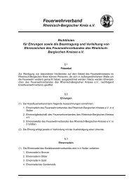 Richtlinien - PDF - Feuerwehrverband Rheinisch-Bergischer Kreis eV