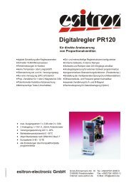 Digitalregler PR120 - esitron-electronic GmbH