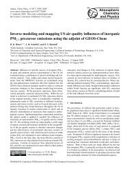 Inverse modeling and mapping US air quality influences of inorganic ...