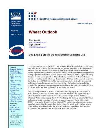 Wheat Outlook - USDA Economics and Statistics System