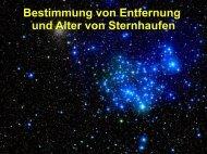 Bestimmung von Entfernung und Alter von Sternhaufen
