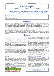 Élevage - Union des oenologues de France