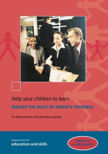 Parent evenings - Woodcote Primary School