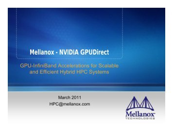 Mellanox - NVIDIA GPUDirect