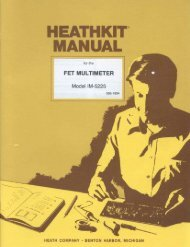 HEATHKIT® MANUAL - Tubular Electronics