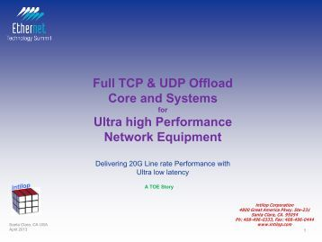 Full TCP & UDP Offload Core and Systems Ultra high Performance ...