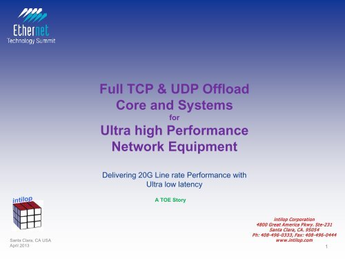 Full TCP & UDP Offload Core and Systems Ultra high