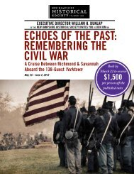 REmEmbERing thE civil WaR - New Hampshire Historical Society