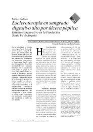Escleroterapia en sangrado digestivo alto por úlcera péptica Estudio ...