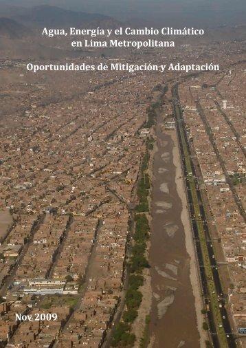 Agua, Energía y el Cambio Climático en Lima Metropolitana ...