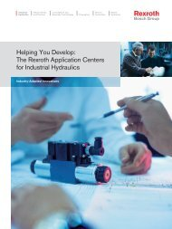 The Rexroth Application Centers for Industrial ... - Bosch Rexroth