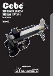 vedklyver sp437-1 vedklyv sp437-1