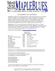 Download Detailed Ad Rate information here - Toronto Blues Society