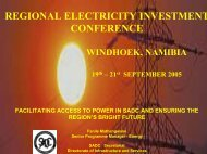 REGIONAL ELECTRICITY INVESTMENT CONFERENCE