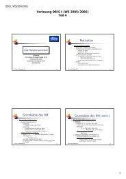 Vorlesung DBIS I (WS 2005/2006) - dbis - Humboldt-Universität zu ...