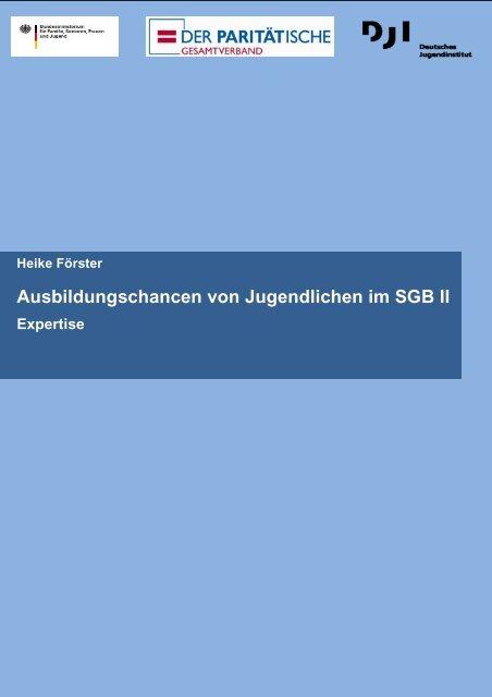 Ausbildungschancen von Jugendlichen im SGB II - Paritätischer ...