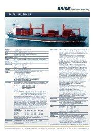 M.V. ULSNIS - Brise Schiffahrts-GmbH