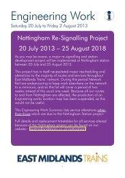 Download Timetable - East Midlands Trains
