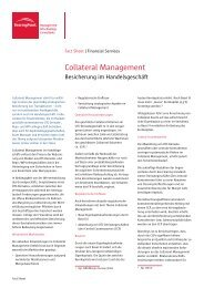 Collateral Management - BearingPoint