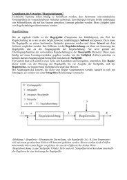 Grundlagen des Versuches ''Regelschaltungen'' Technische ...