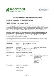 Weekly Parish List of Planning Applications - Rochford District Council