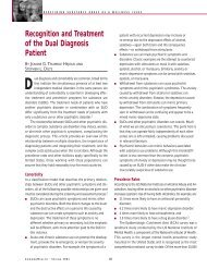 Recognition and Treatment of the Dual Diagnosis Patient