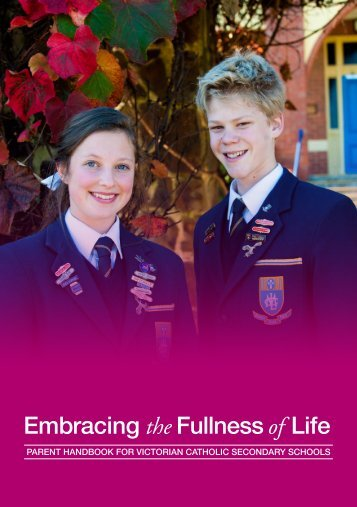 Parent Handbook for Victorian Catholic Secondary Schools