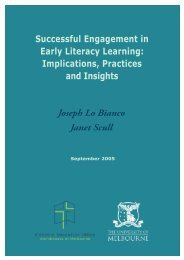 Successful Engagement in Early Literacy Learning - Catholic ...