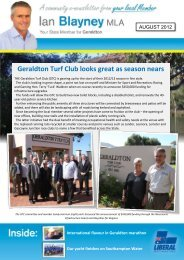 August 2012 E-Newsletter - Liberal Party of Australia | WA Division