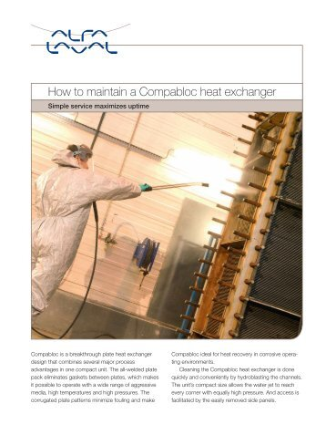How to maintain a Compabloc heat exchanger - Alfa Laval