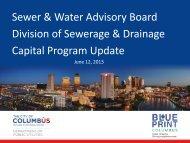 Capital Program Update - Sierra Club – Ohio Chapter