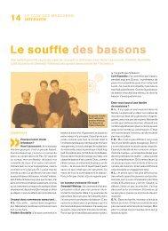 Le souffle des bassons - Orchestre national d'Ile-de-France