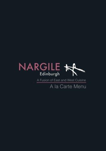 A La Carte - Edinburgh Menus