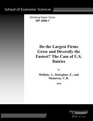 Do the Largest Firms Grow the Fastest - Washington State University