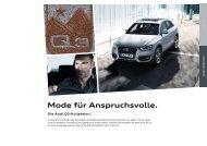 Mode für Anspruchsvolle. - Audi