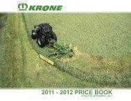 2011 - 2012 PRICE BOOK - Krone North America