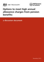 Options to meet high annual allowance charges from pension benefits
