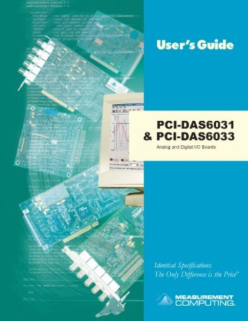 PCI-DAS6031 & PCI-DAS6033 User's Guide