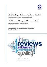 Short version - Cochrane Editorial Unit - The Cochrane Collaboration