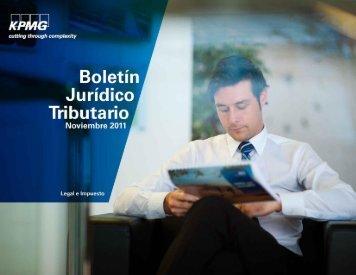 Boletín Jurídico Tributario Noviembre 2011 - cpzulia.org