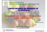 LIMITES MÁXIMOS DE RESIDUOS DE PLAGUICIDAS - Cclac.org