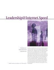 Leadership@Internet.Speed - Banff Executive Leadership