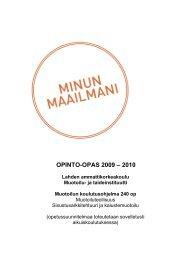 Opinto-opas 2009-2010, Muotoilu - Lahden ammattikorkeakoulu